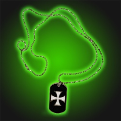 Iron Cross  - Dog Tag Necklace