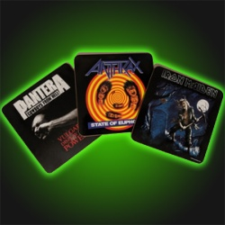 Heavy Metal Drink Coaster Set
